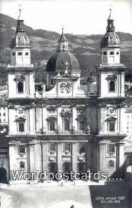 Austria Salzburg Dom Real Photo