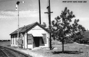 Hunt Texas Railroad Depot Real Photo Antique Postcard K73233