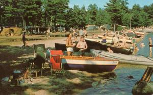 ME - Naples. Sebago Lake State Park Campsite