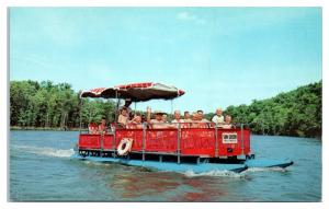 Sun Queen Excursion Boat, Sunnen Lake, Trout Lodge YMCA Camp, Potosi MO Postcard