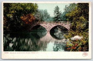 Keene New Hampshire~Ashualot River Stone Bridge~c1905 Detroit Pub Co #8785