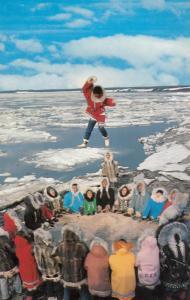 Eskimo Blanket Toss, Kotzebue , Alaska , 1967