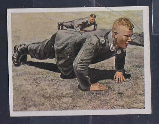 GERMANY TOBACCO CARD WWI 6x5 cms. MILITAR TRAINING AAD5158