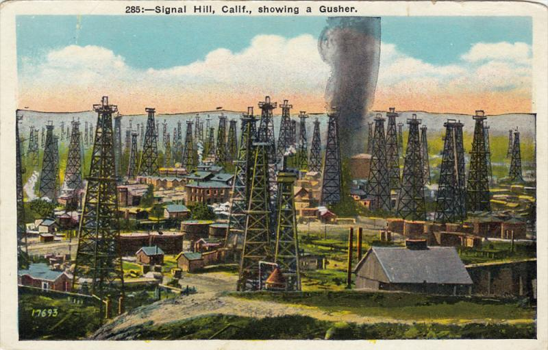 Signal Hill showing a Gusher, Signal Hill, California, 10-20s