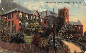 D67/ Montgomery West Virginia WV Postcard 1910 Prepatory School Building