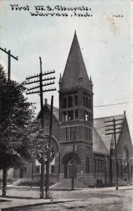 WARREN , Indiana, PU-1910; First M. E. Church