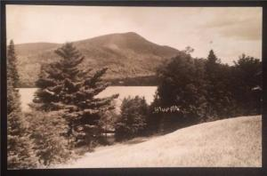 Real Photo Blue Mountain, Undivided Back, Unposted