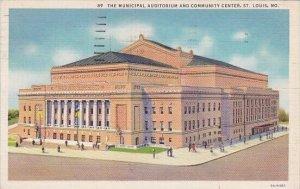 The Municipal Auditorium And Community Center Saint Louis Missouri 1958