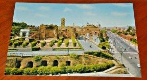 via dei fori imperiali Rome Roma Italy Postcard fotocolor Kodak Ektachrome