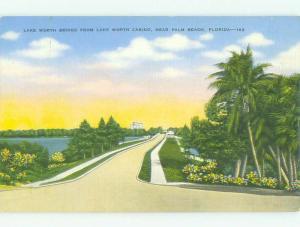 Unused Linen BRIDGE SCENE Palm Beach Florida FL HQ9926