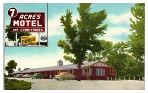 Mid-1900s 7 Acres Motel, Wentzville, MO Postcard