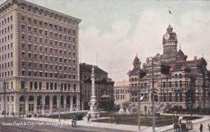 WINNIPEG , Manitoba, Canada , 1910 ; Union Bank & City Hall