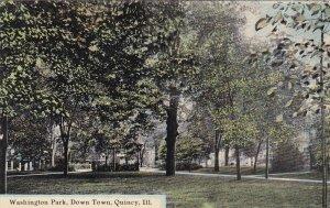 QUINCY, Illinois, 1900-1910s; Washington Park, Down Town