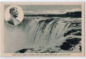 Jean Lussier & His Rubber Ball over Niagara Falls 1928