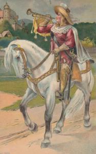 Bugle Hearld on horse , 1915