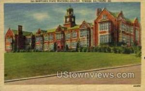 Maryland State Teachers College Baltimore MD Unused
