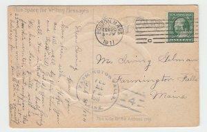 P2068 1911 postcard patriotic george washington portrait red white blue ribbons