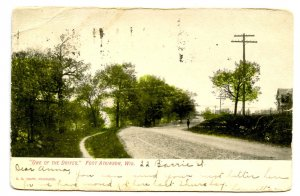 WI - Fort Atkinson. One of the Drives   (crease)
