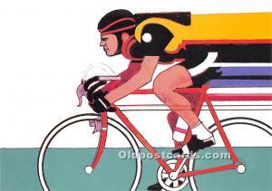 Original Artwork by Robert Peak, 1984 Summer Olympics Cycling Stamp Olympic U...