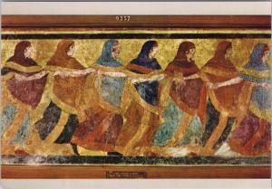 Funeral Dance from Ruvo Museo Nazionale di Napoli Art Repro Postcard D50