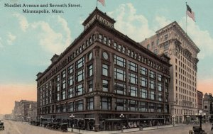 MINNEAPOLIS , Minnesota , 1900-10s ; Nicollet avenue & Seventh Street