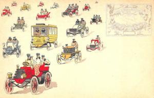 Postale Italiana Early Modes of Transportation Postcard