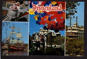 CA Disneyland Dumbo Ship Castle Amusement Park  Anaheim California Postcard