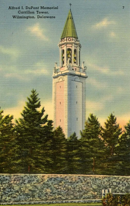 DE - Wilmington. Alfred I. DuPont Memorial Carrillon Tower