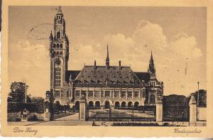 Post Card of Der Haag - Message in Esperanto