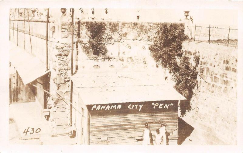 E48/ Foreign RPPC Postcard Central America c1920s Panama City Pen Jail 2