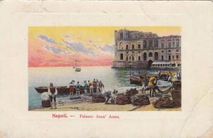 Fishing Boats & Nets, Palazzo Donn' Anna, Napoli (Campania), Italy, PU-1911