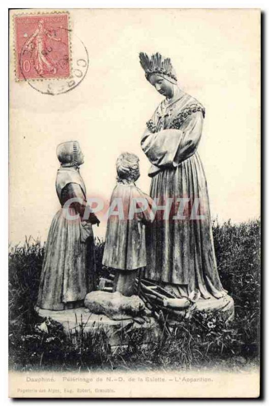 Old Postcard Dauphine Pilgrimage N D of the Galotte Aoparition