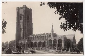 Suffolk; Lavenham Church RP PPC, Unposted, Approx 1920's