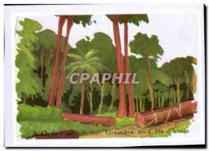 Picture forestry operations in Cote d Ivoire
