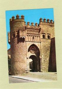 Toledo Gate of  the Sun Vtg Postcard Full Color SPAIN Puerto del Sol Unposted
