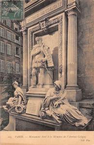 France Paris Monument eleve a la Memoire de l'Amiral Coligny Statues
