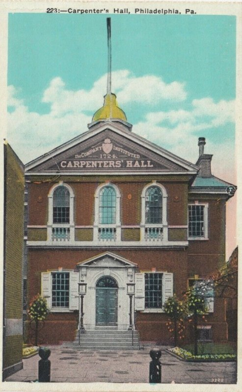 PHILADELPHIA, Pennsylvania, 1900-10s; Carpenter's Hall, version 2