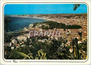 Postcard Modern Reflections of the French Riviera Nice (Alpes Maritimes) Pano...
