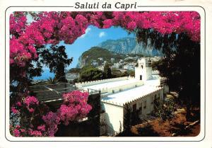 Italy Saluti da Capri Scorcio Panoramico Panorama Church Postcard