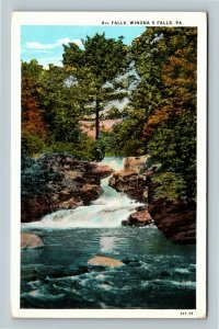 Winona 5 Falls PA, 4th Falls, Vintage Pennsylvania Postcard