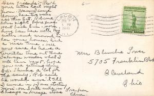 Lacon Illinois~Methodist Episcopal ME Church~Edna's Home Town~1941 RPPC
