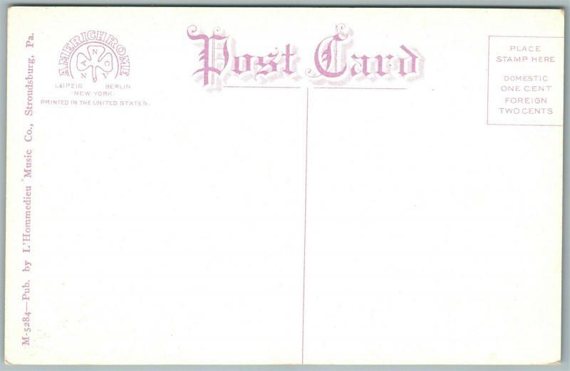 CRESCO PA CLIFF VIEW COTTAGE ANTIQUE POSTCARD