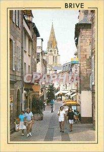 Modern Postcard Brive la Gaillarde Correze Tourist Street Lieutenant Colonel ...