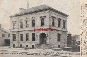1906 MIDDLETOWN NY The Thrall Library Building, 3 postmarks, to Charles Lorch