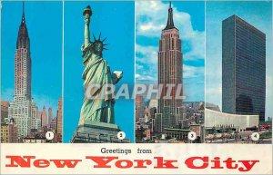Modern Postcard Greetings from New York City