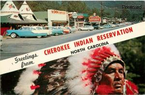 NC, Cherokee, North Carolina, Indian Reservation, Multi View, Color King