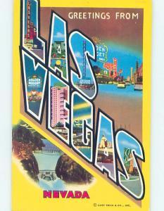 Pre-1980 BIG LETTERS Las Vegas Nevada NV ho6859