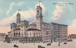 Jefferson Hotel, Franklin Street, Richmond, Virginia, PU-1911