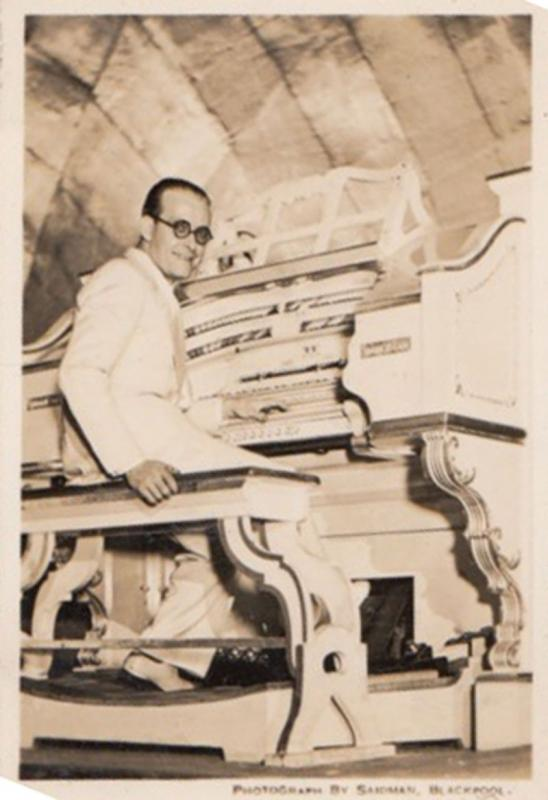 Horace Finch on Wurlitzer Organ Empress Ballroom Blackpool Antique Small Photo