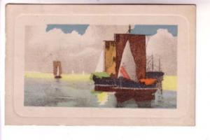Lovely Colouring, Painting Square Masted Sailboats